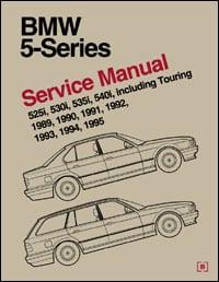 Руководство по ремонту BMW 5 серии 1989-1995 г.в. от издательства Bentley Publishers