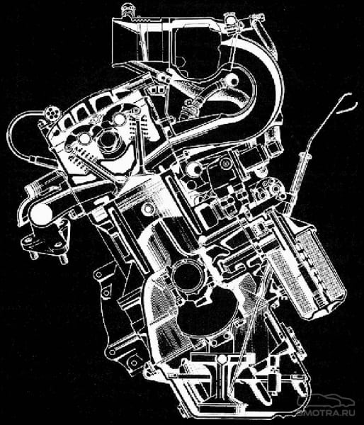 Мотор BMW M30 в разрезе