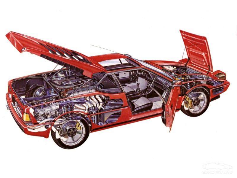 Первый и единственный центральномоторный суперкар BMW M1.