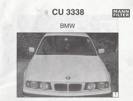 Инструкция по замене фильтра салона Mann на BMW E34
