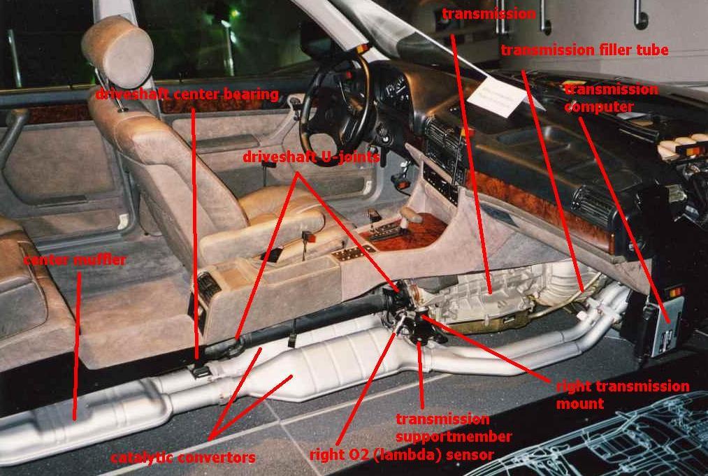 Обзор салона, трансмиссии и выхлопной системы BMW E32 750iL