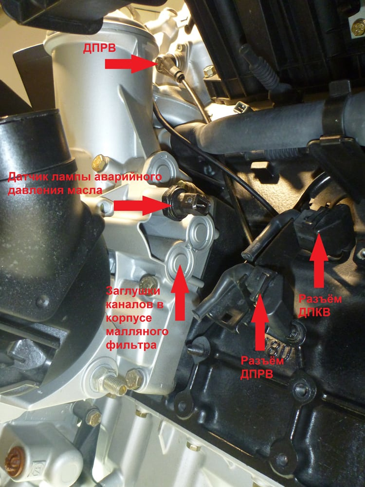 BMW M50 где находится ДПКВ, ДПРВ и датчик давления масла