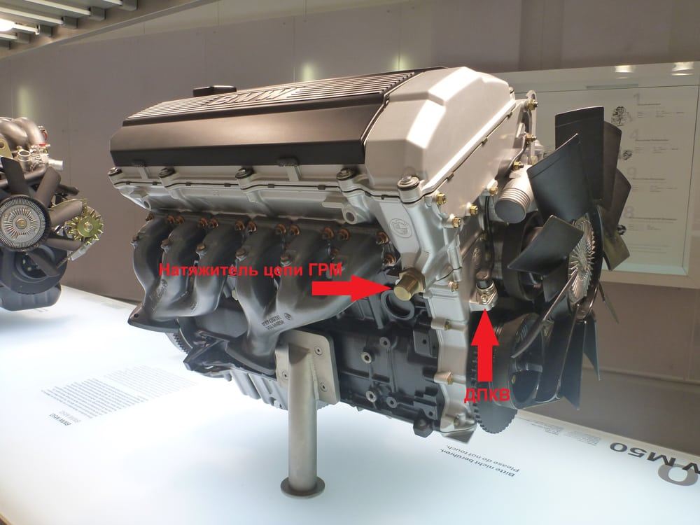 Двигатель BMW M50 вид сбоку