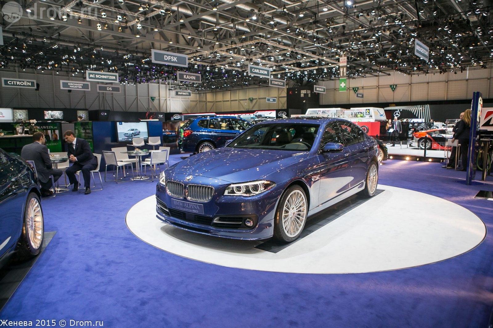 Новая BMW Alpina B5 Bi turbo на автосалоне в Женеве, 2015 год