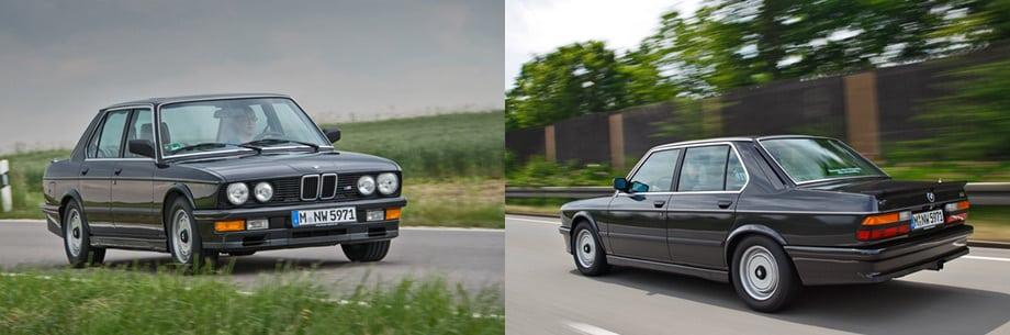 Вообще-то в кузове E28 выпускалась не только версия M535i, вытащенная для нас из музейных закромов, но и настоящая «эмка» — первая М5 в истории. В отличие от топовой машины, получившей 282-сильный мотор от легендарной модели М1 и собиравшейся вручную, на нашей тестовой «пятёрке» установлен мотор от обычной «пятьсот тридцать пятой» — его отдача 218 л.с.