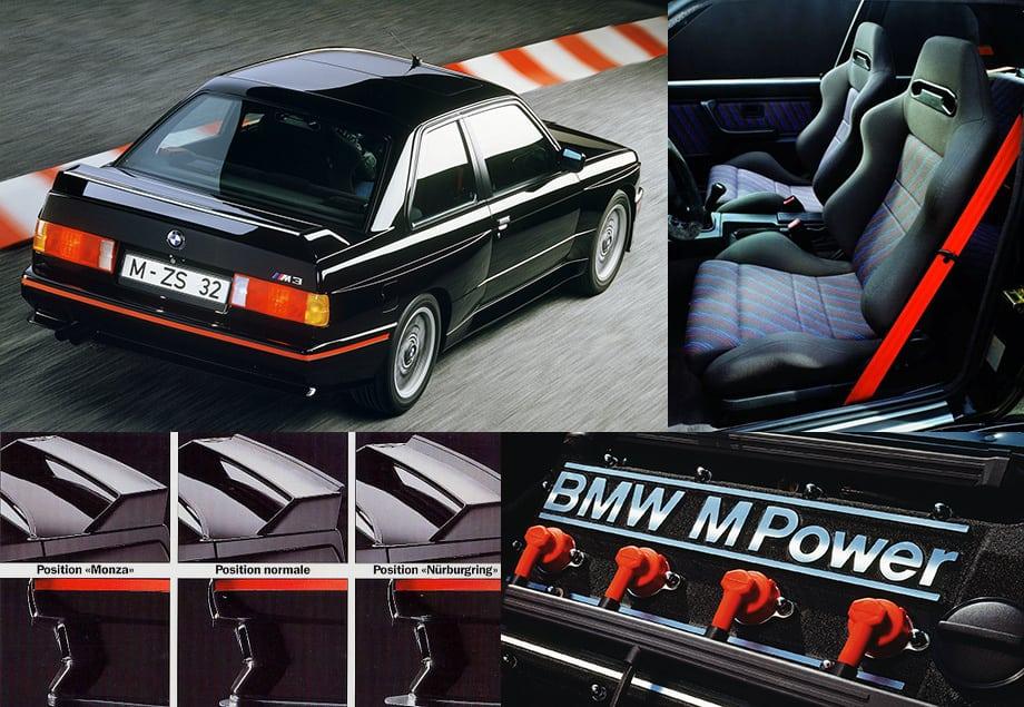 M3 Sport Evolution в первую очередь запоминалась эффективной аэродинамикой. Регулировались передний спойлер и заднее антикрыло, что позволяло оптимально настроить машину под ту или иную гоночную трассу.