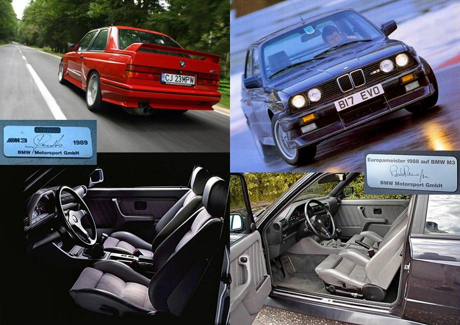 Были и ограниченные серии BMW M3, названные в честь выступавших на них чемпионах, — Джонни Чекотто и Роберто Равальи. Слева — M3 Cecotto (505 экземпляров), справа — M3 Europameister (148 машин).