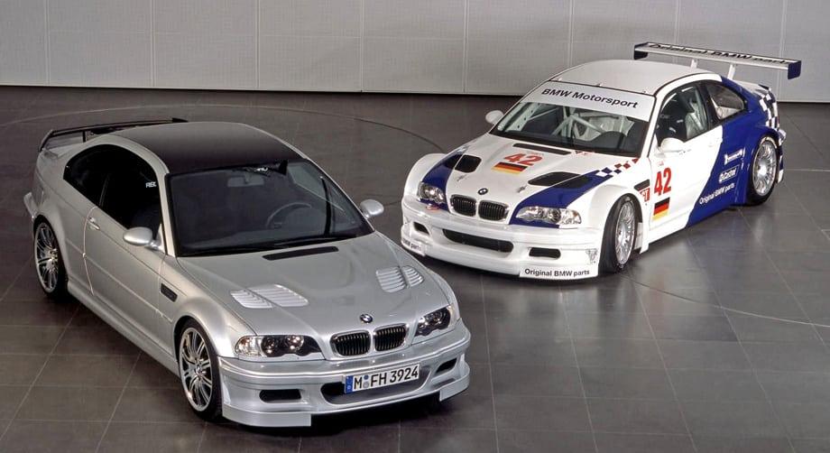 В 2001 году BMW сделала и дорожную версию M3 GTR с дефорсированным до 350 «лошадок» мотором. Крыша, заднее антикрыло и передний спойлер с целью облегчения были выполнены из пластика, усиленного карбоновыми волокнами. Машина оценивалась в четверть миллиона евро. Баварцы собирались сделать их 10, но в итоге известно о судьбе всего двух машин — одна из них находится в ОАЭ, вторая — в фирменном музее BMW.