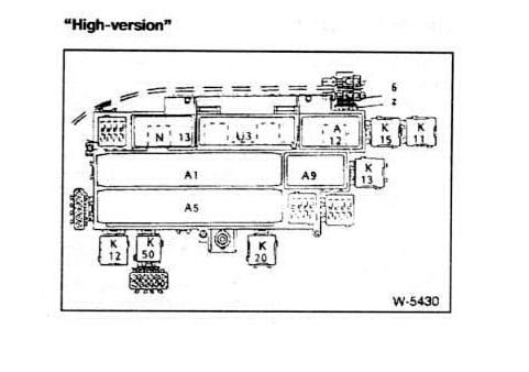 Блок реле под задним диваном BMW E34 High Version