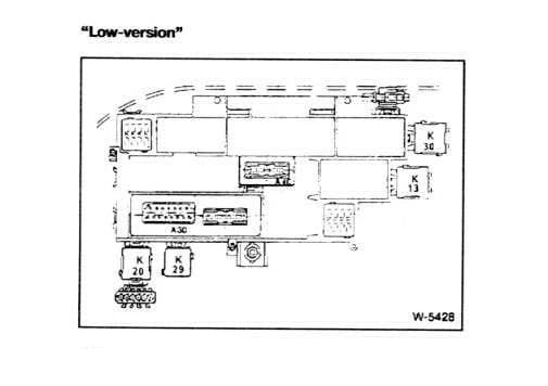 Блок реле под задним диваном BMW E34 Low Version