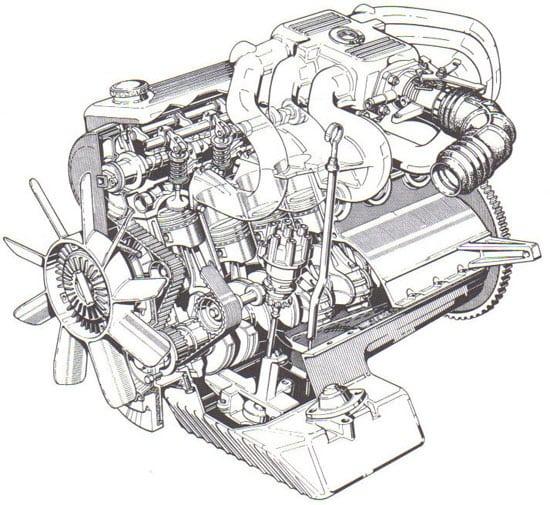 Двигатель BMW M20 - схема