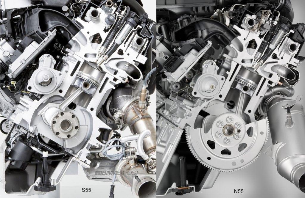 Сравниваем двигатели BMW S55 и N55