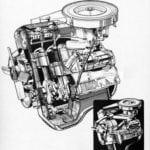 Рисунок двигателя M10 для BMW 1800 E118