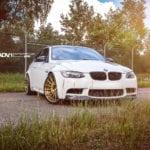 BMW M3 на дисках ADV15 в цвете Alpine White