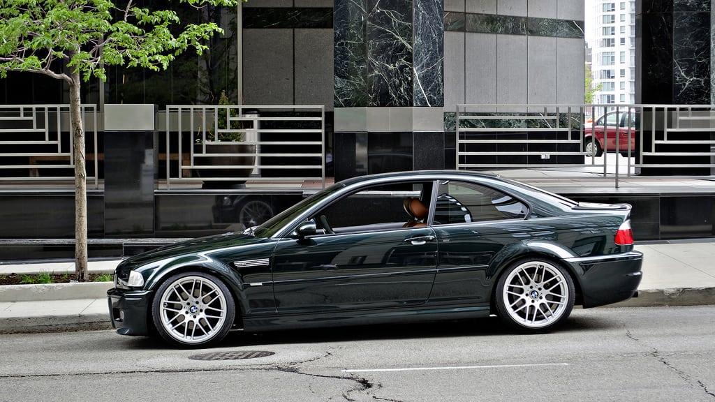 BMW E46 M3 в цвете Ofxord Green