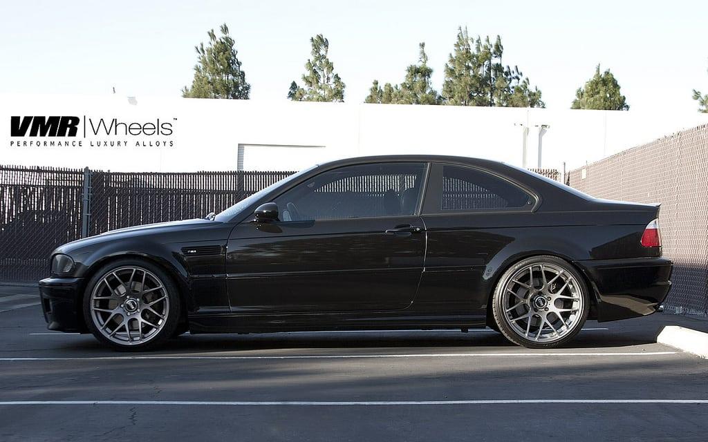BMW E46 M3 на дисках VMR в цвете Sparkling Graphite