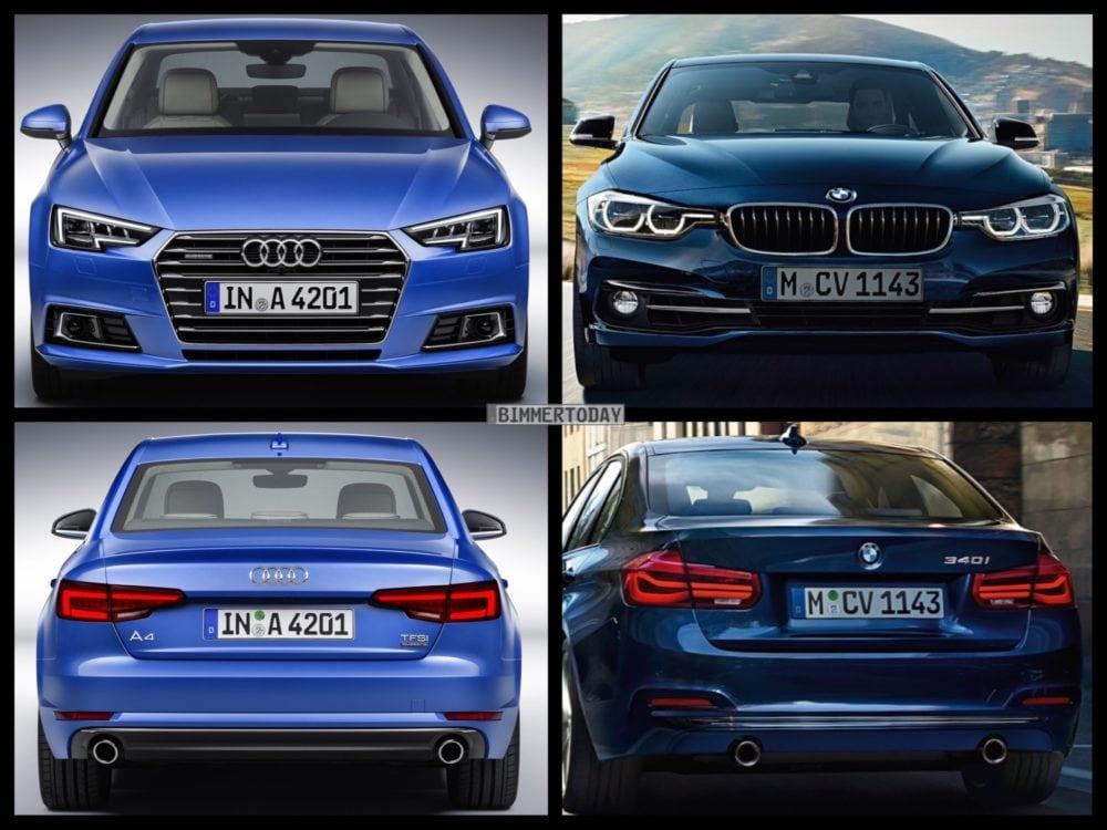 BMW 3 серии 2016 vs. Audi A4 2016: сравниваем конкурентов