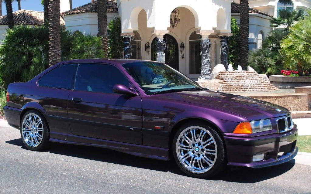 BMW E36 в цвете Daytona Violet