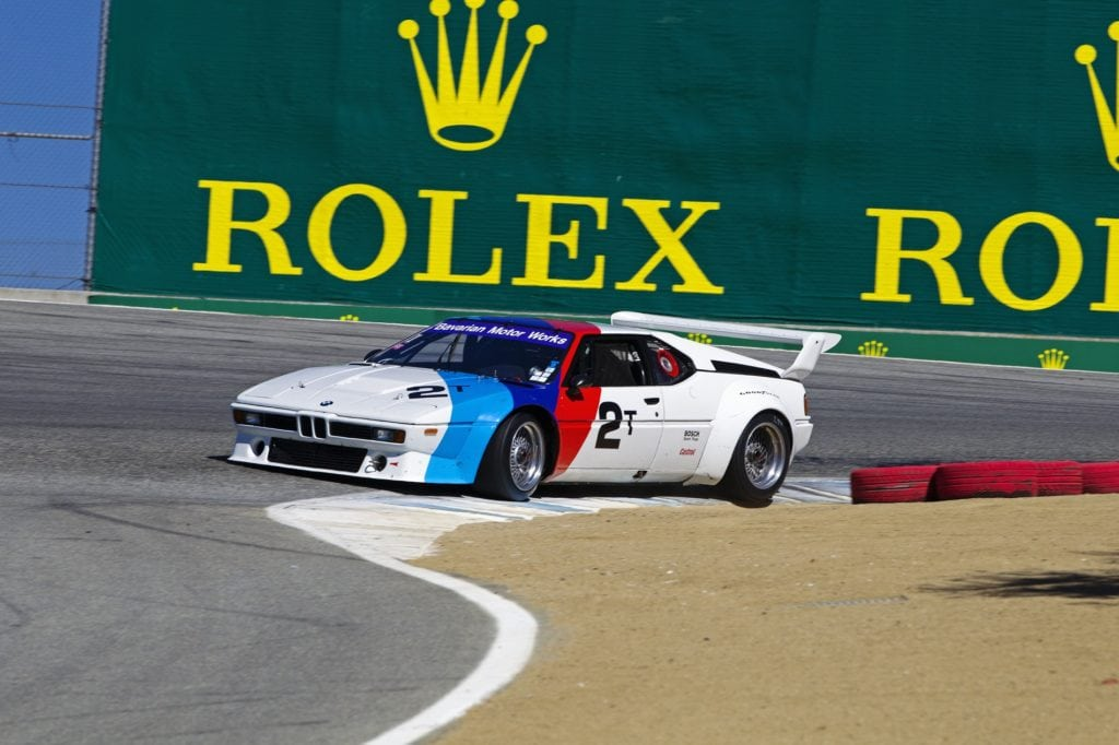 1981 BMW M1 IMSA Group 4 to race at the Rolex Monterey Motorsport Reunion 2015.