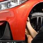 BMW F82 M4 M Performance Aero Package в цвете Sakhir Orange