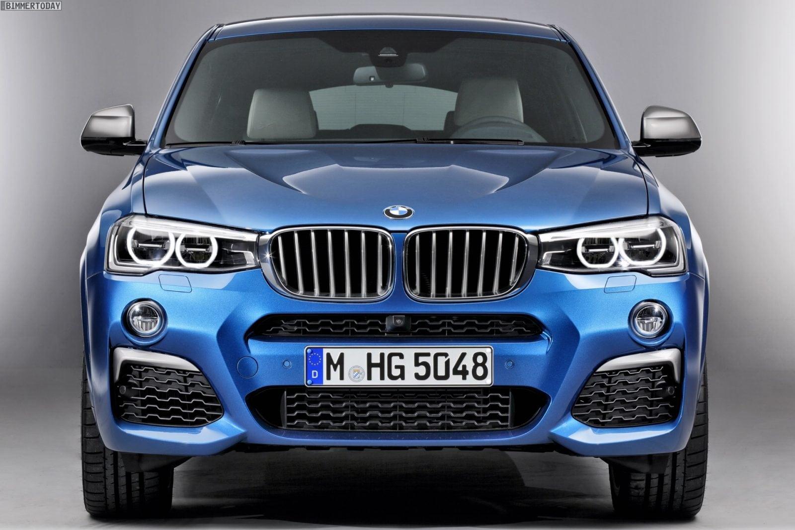 BMW X4 M40i 2015 в цвете Long Beach Blue