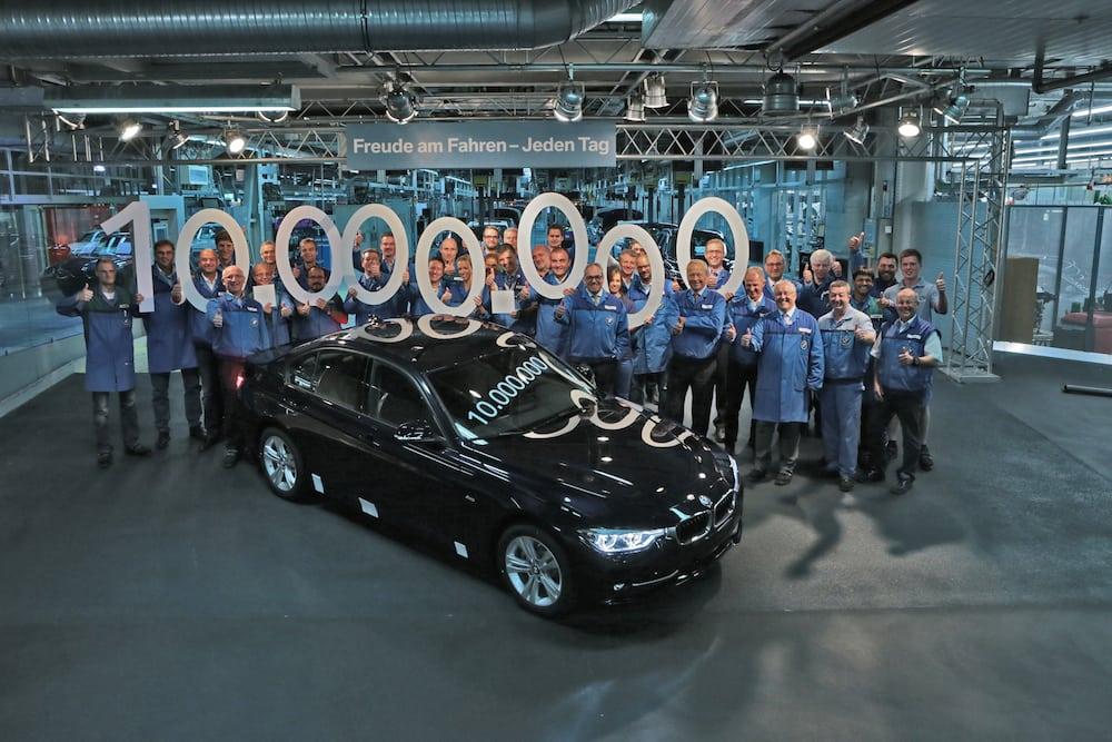10-миллионный BMW 3 серии сошел с конвейера на заводе в Мюнхене