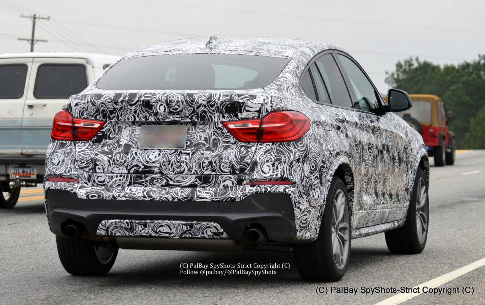 Шпионские фото BMW X4 M40i 2015