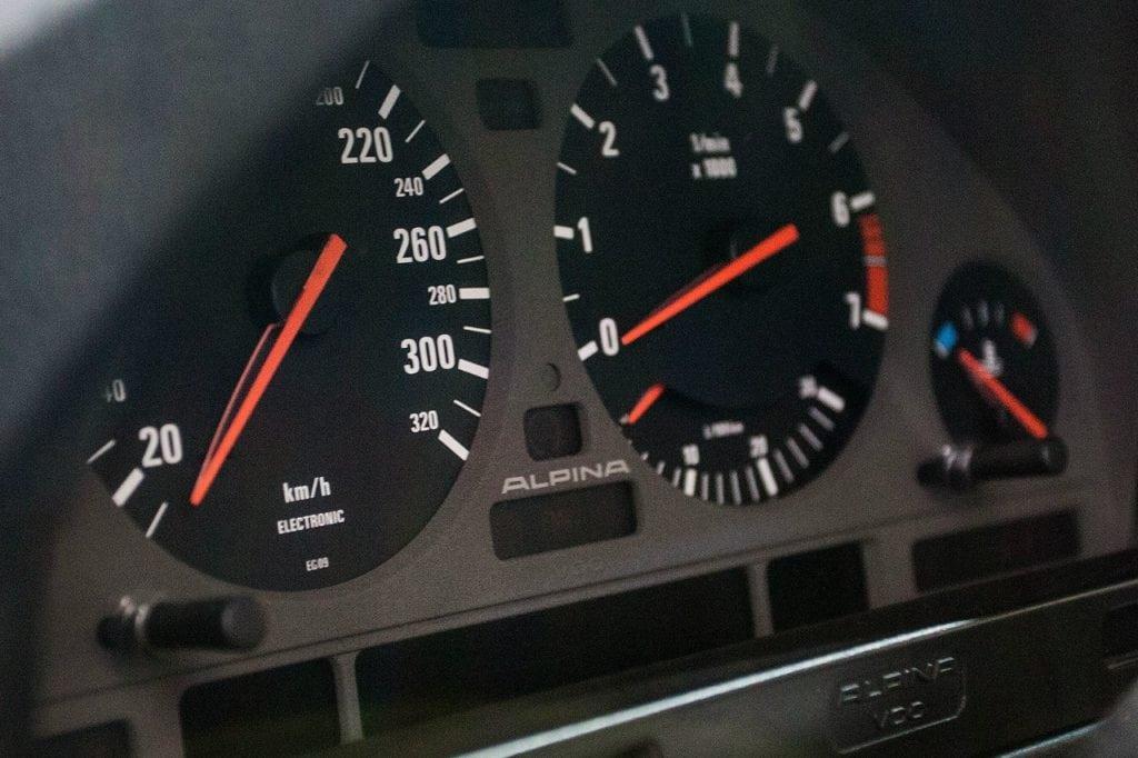 Red BMW Alpina B10 Biturbo