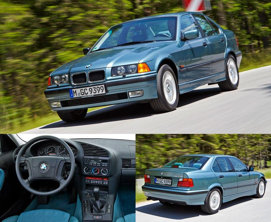 Третье поколение BMW третьей серии (E36) появилось в 1990 году. Помимо предлагавшихся ранее купе, седана, универсала (Touring) и кабриолета, появился трёхдверный хэтчбек (Compact), оказавшийся популярным в Европе и не нашедший своего покупателя в США.
