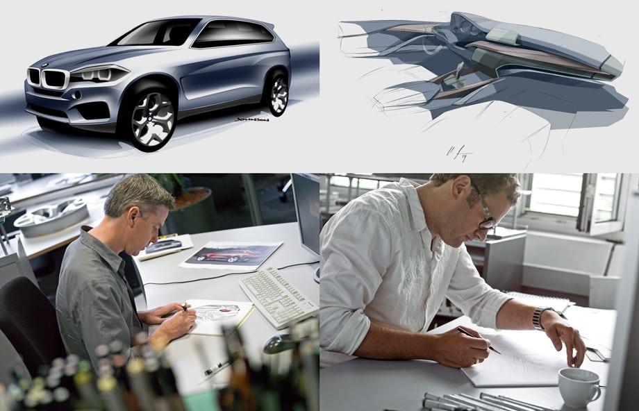 Проект нового BMW X5 по части дизайна курировал глава отдела концерна Карим Хабиб. Но есть и конкретные люди, которых стоит благодарить или ругать за конечный результат. Это Марк Джонсон (слева), отвечающий за дизайн экстерьера, и Ульрих Штроле, нарисовавший интерьер кроссовера.