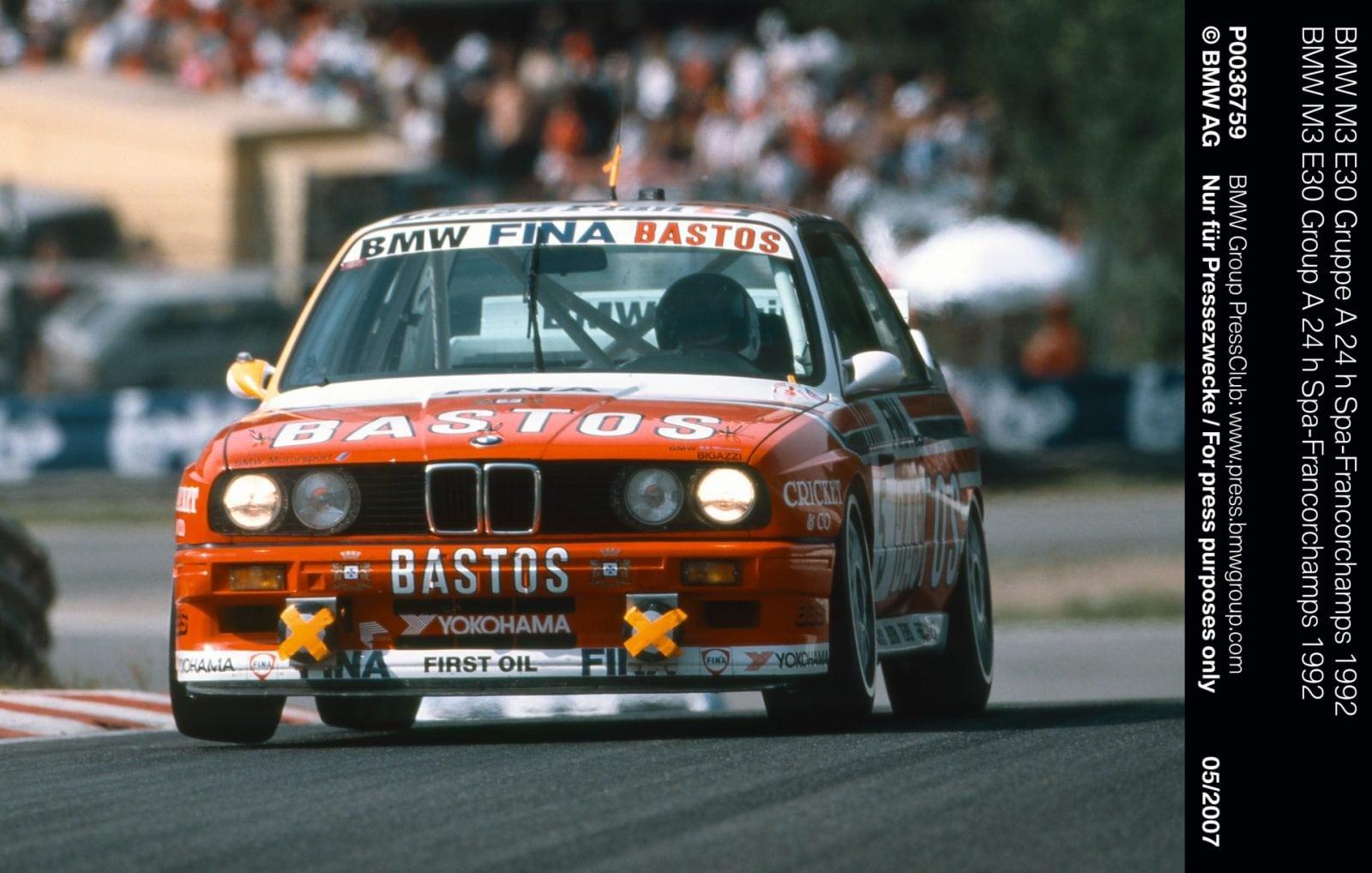 BMW M3 E30 Gruppe A 24 h Spa-Francorchamps 1992