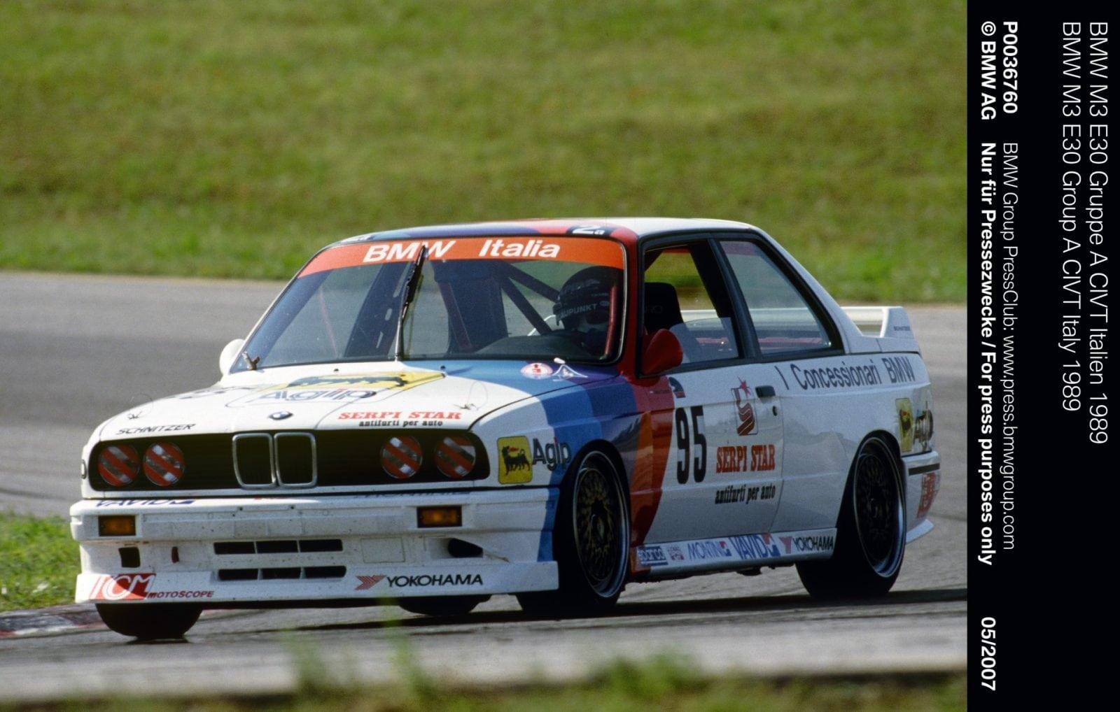 BMW M3 E30 Gruppe A CIVT Italy 1989