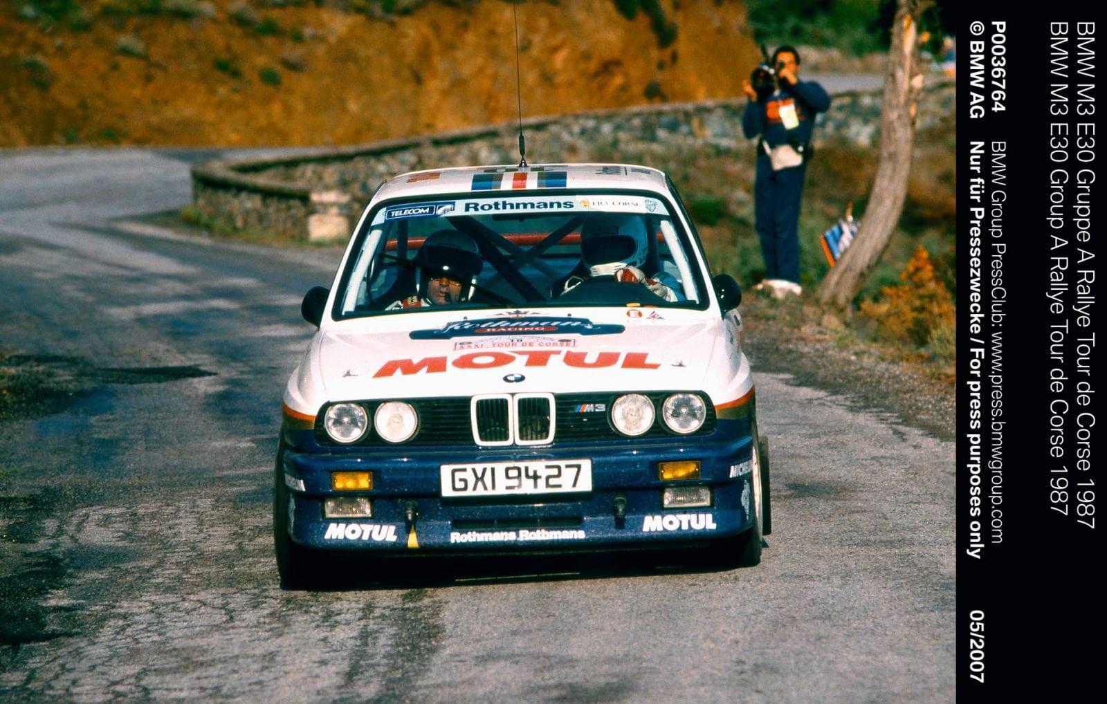 BMW M3 E30 Gruppe A Rallye Tour de Corse 1987