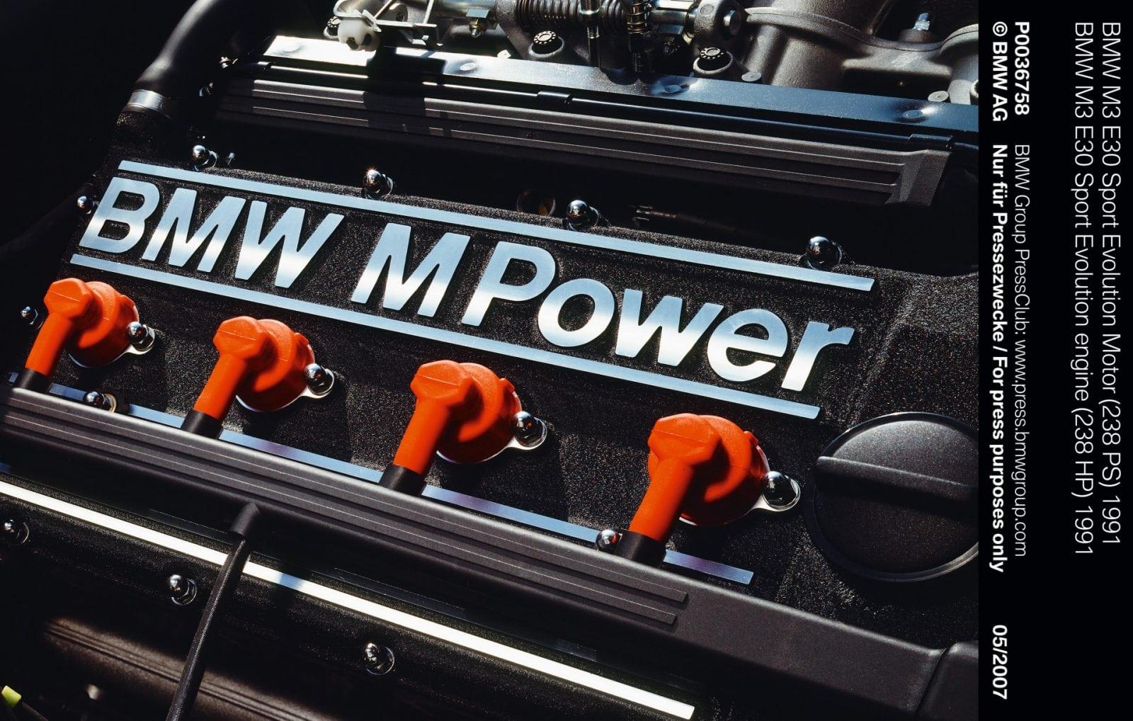 BMW M3 E30 Sport Evolution engine (238 HP) 1991