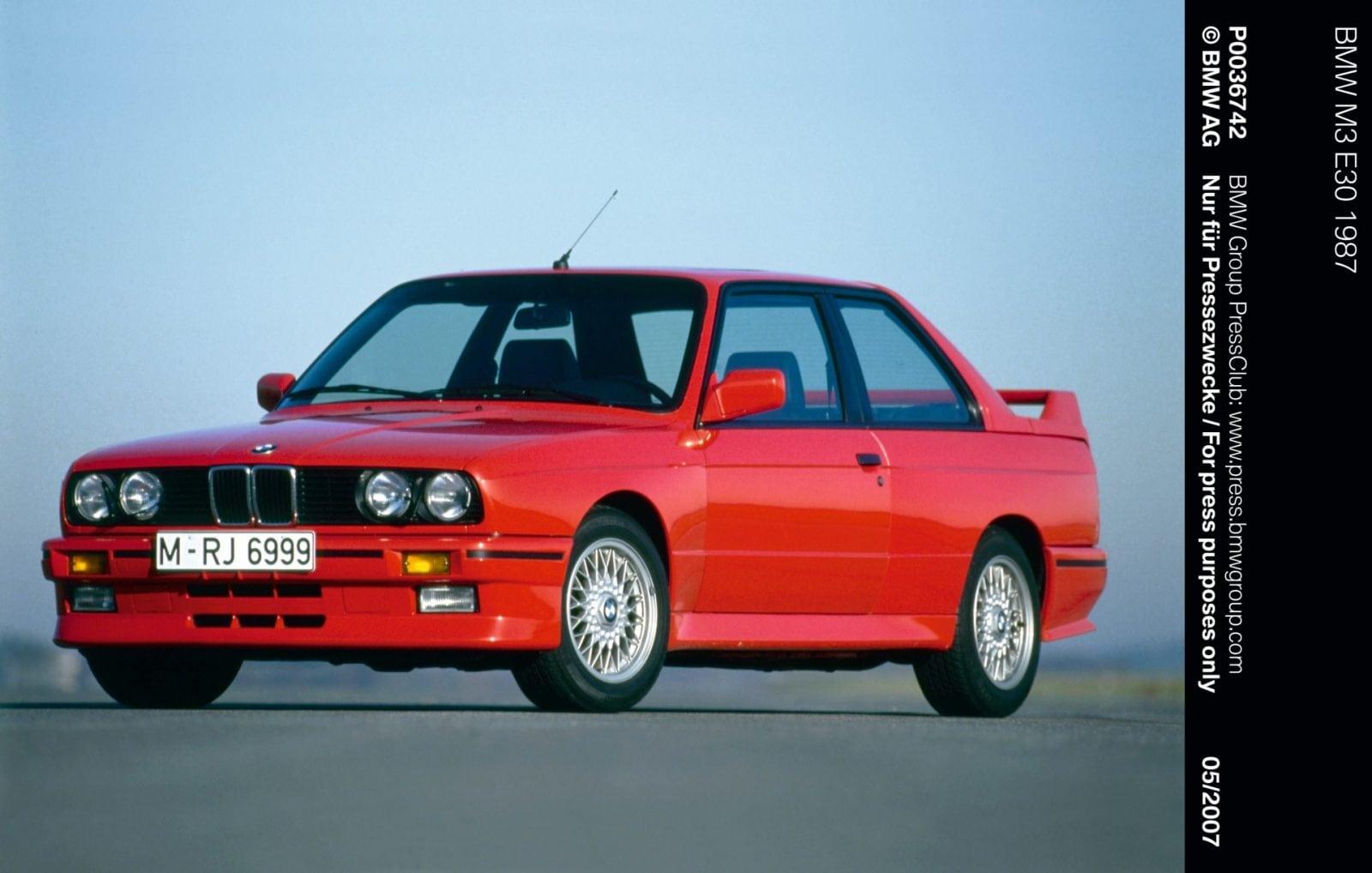 История BMW M3 E30 - первое поколение BMW M3 E30 1987