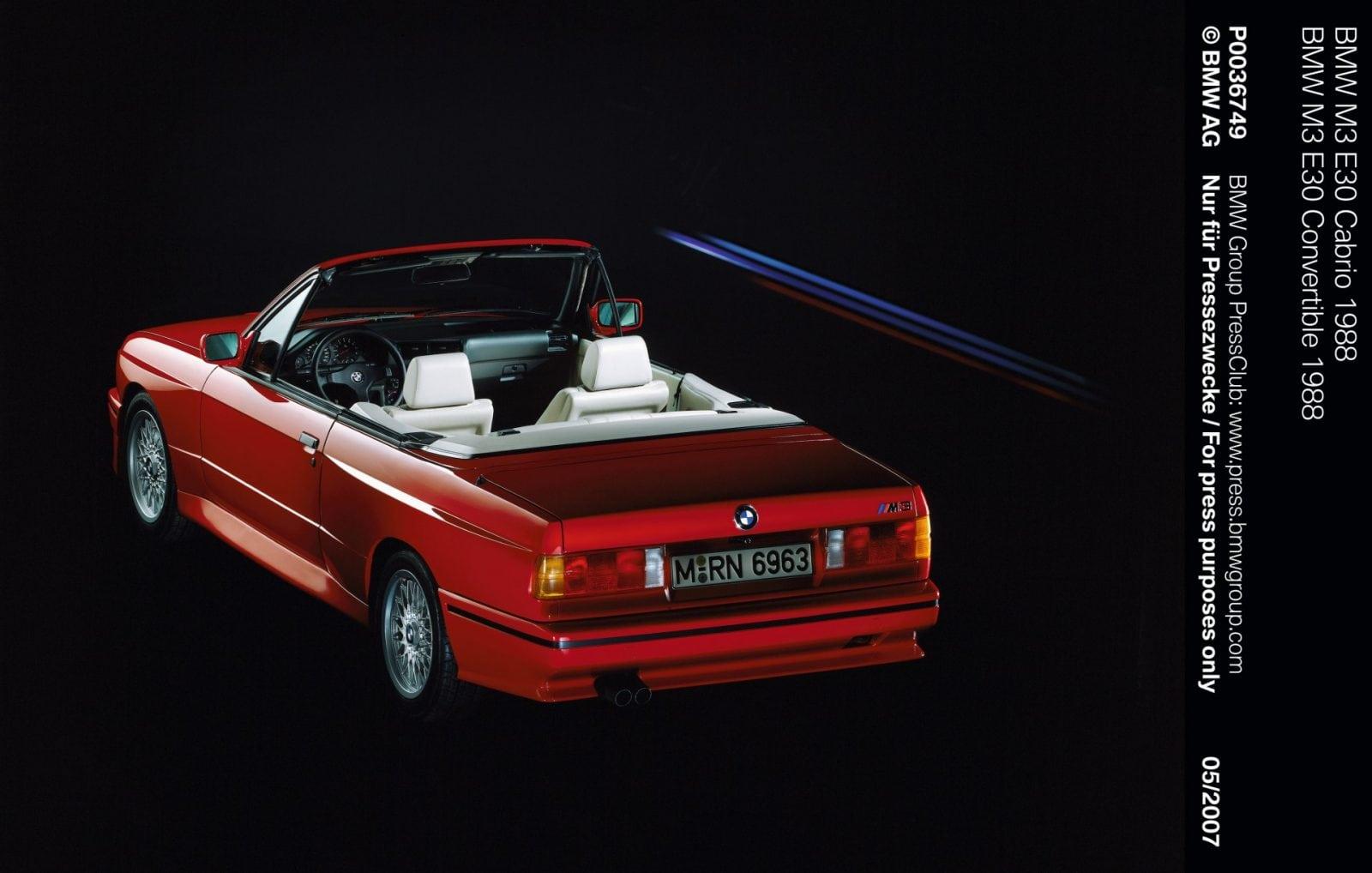 BMW M3 E30 Convertible 1988