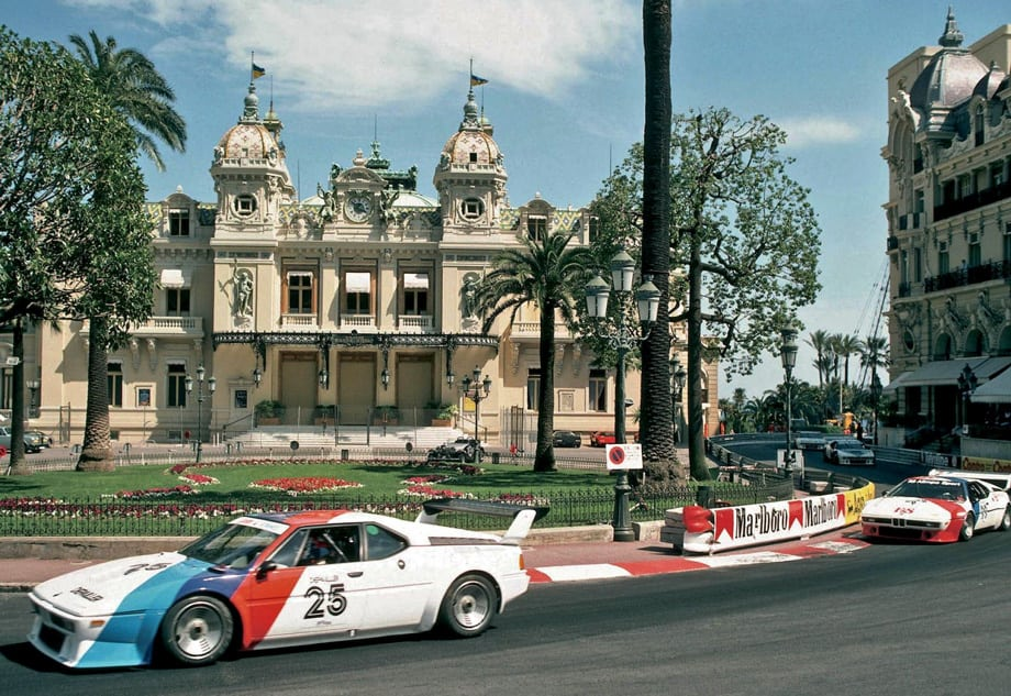 BMW M1 серии Procar в Монако перед гран-при Формулы-1.