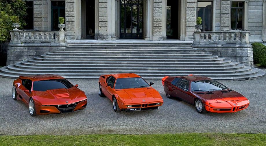 А вот и все три красавца — BMW M1 Hommage, BMW M1 и BMW Turbo.
