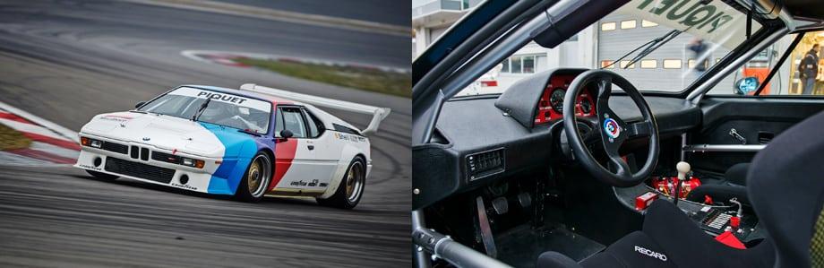 Это как раз боевое купе M1 серии Procar, подготовленное по требованиям Группы 4 FIA: 470 л.с. при 1020 кг разрешённой массы.