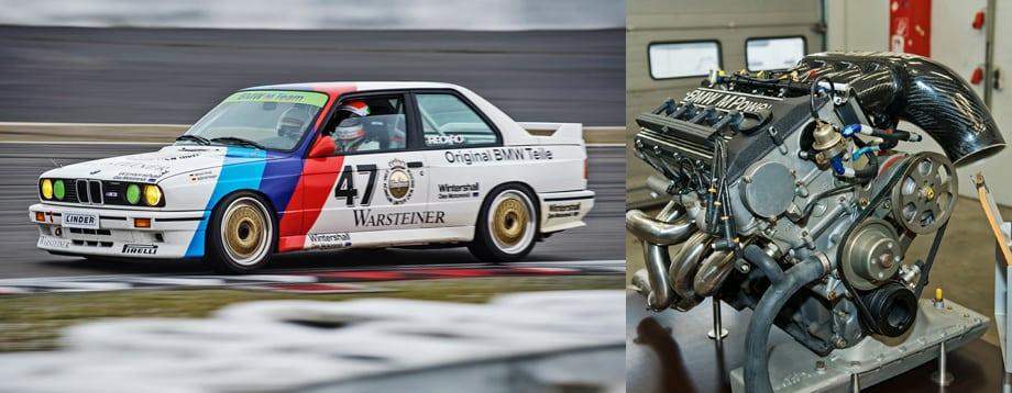 Куда больше было хлопот с гоночной версией четырёхцилиндрового мотора. Инженерам M-отдела потребовалась помощь коллег по серийным моторам BMW, чтобы придумать подходящую для гонок систему смазки с масляным поддоном.