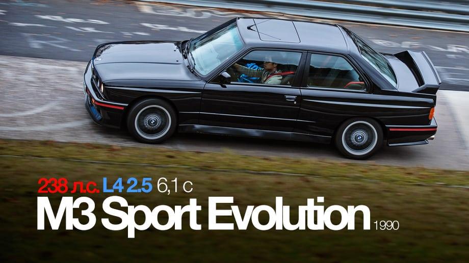 Версия M3 Sport Evolution — как будто совершенно другой автомобиль. Это одно из ярчайших явлений юбилея, безо всякой поправки на возраст.
