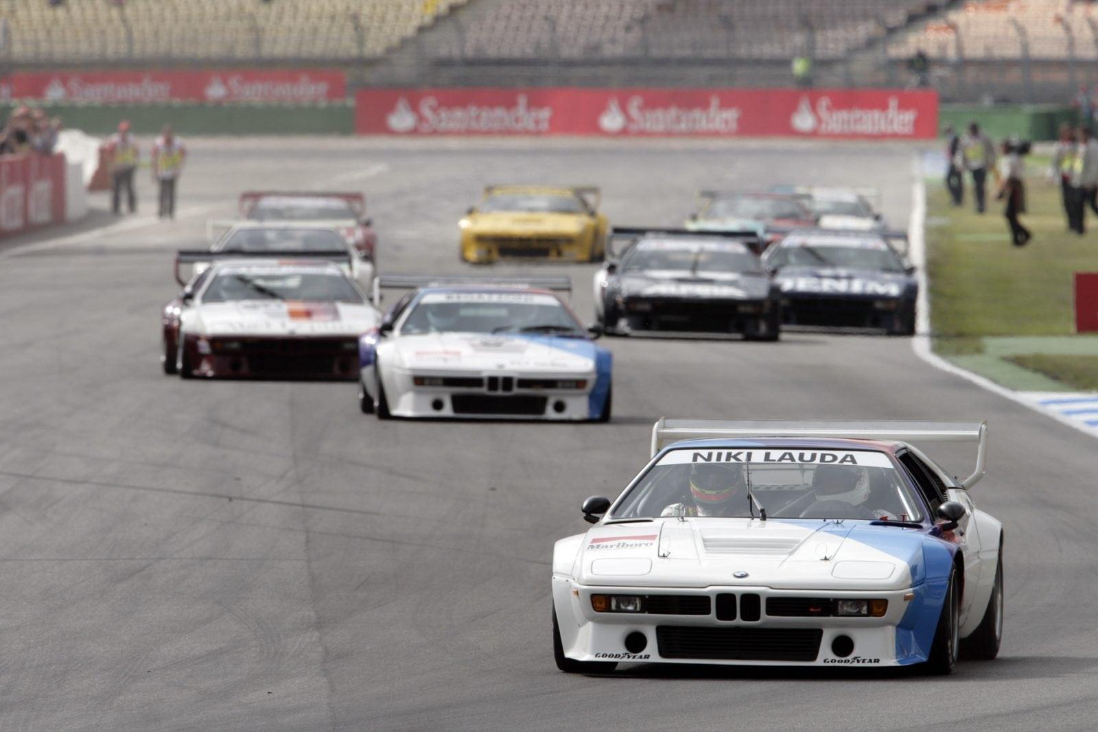 BMW M1 Procar на прогревочном этапе гран-при Формулы-1 в Австрии.