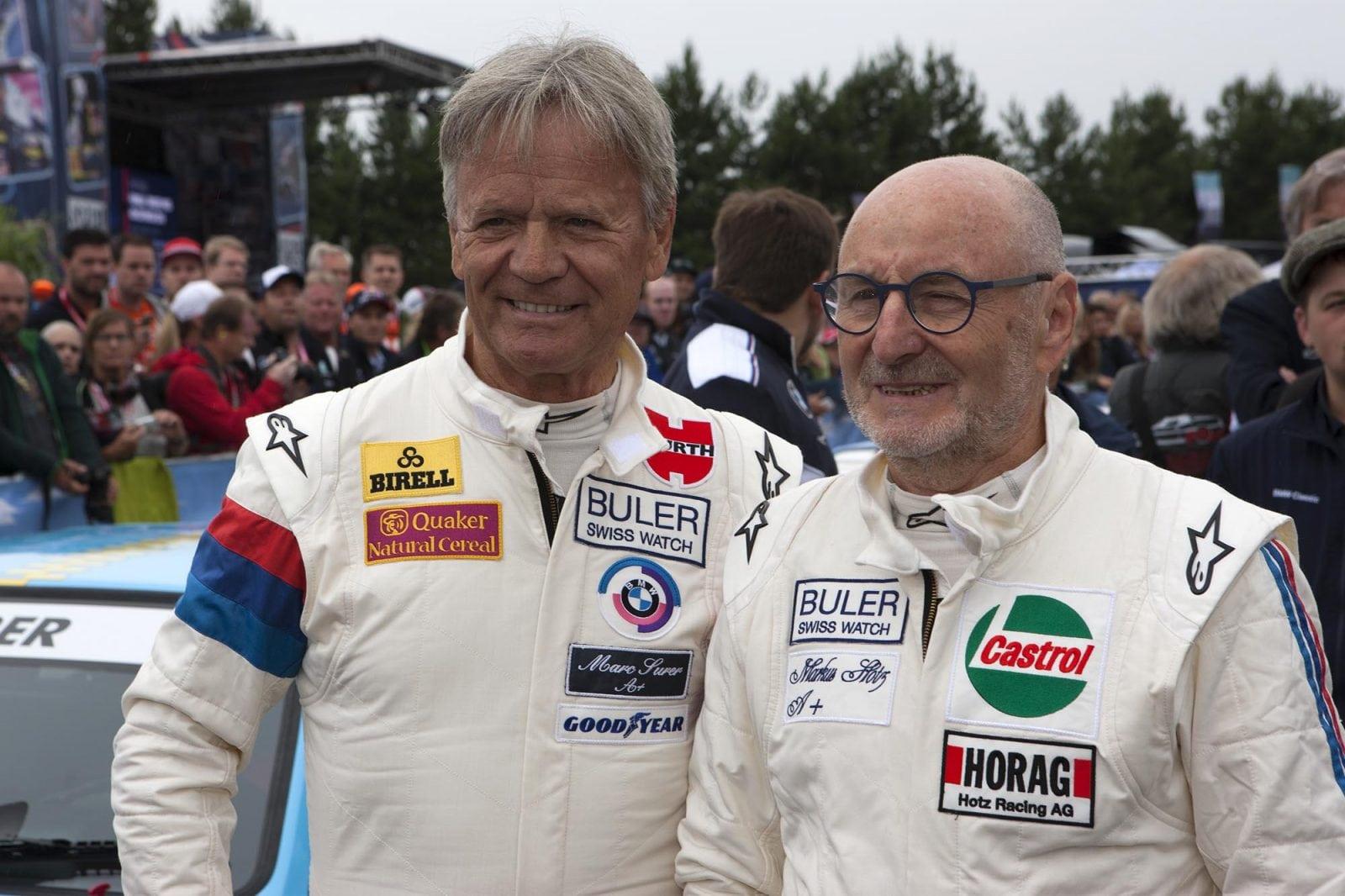 Markus Hotz и Marc Surer. BMW M1 Procar на прогревочном этапе гран-при Формулы-1 в Австрии.
