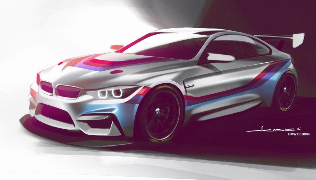 Дизайнеры BMW представили рендер будущего преемника GT4-версии BMW M3. Следующий год станет последним боевым для этого гоночного болида и в 2018-м мы увидим в деле именно M4 GT4.