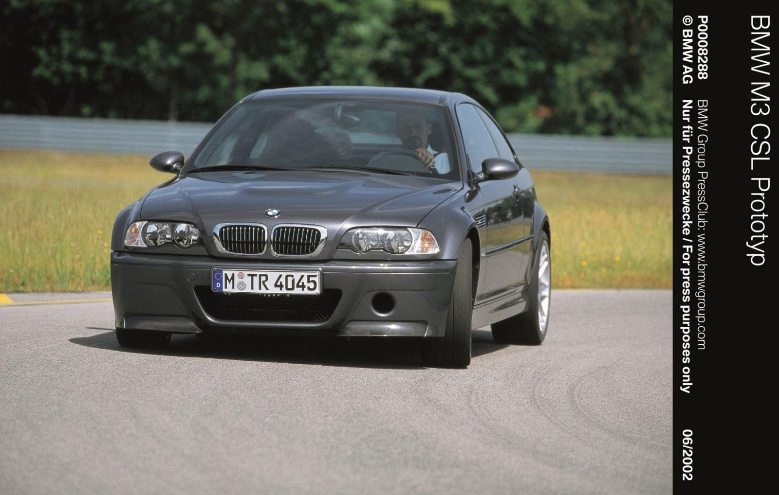 Прототип BMW M3 E46 CSL (2002 год)