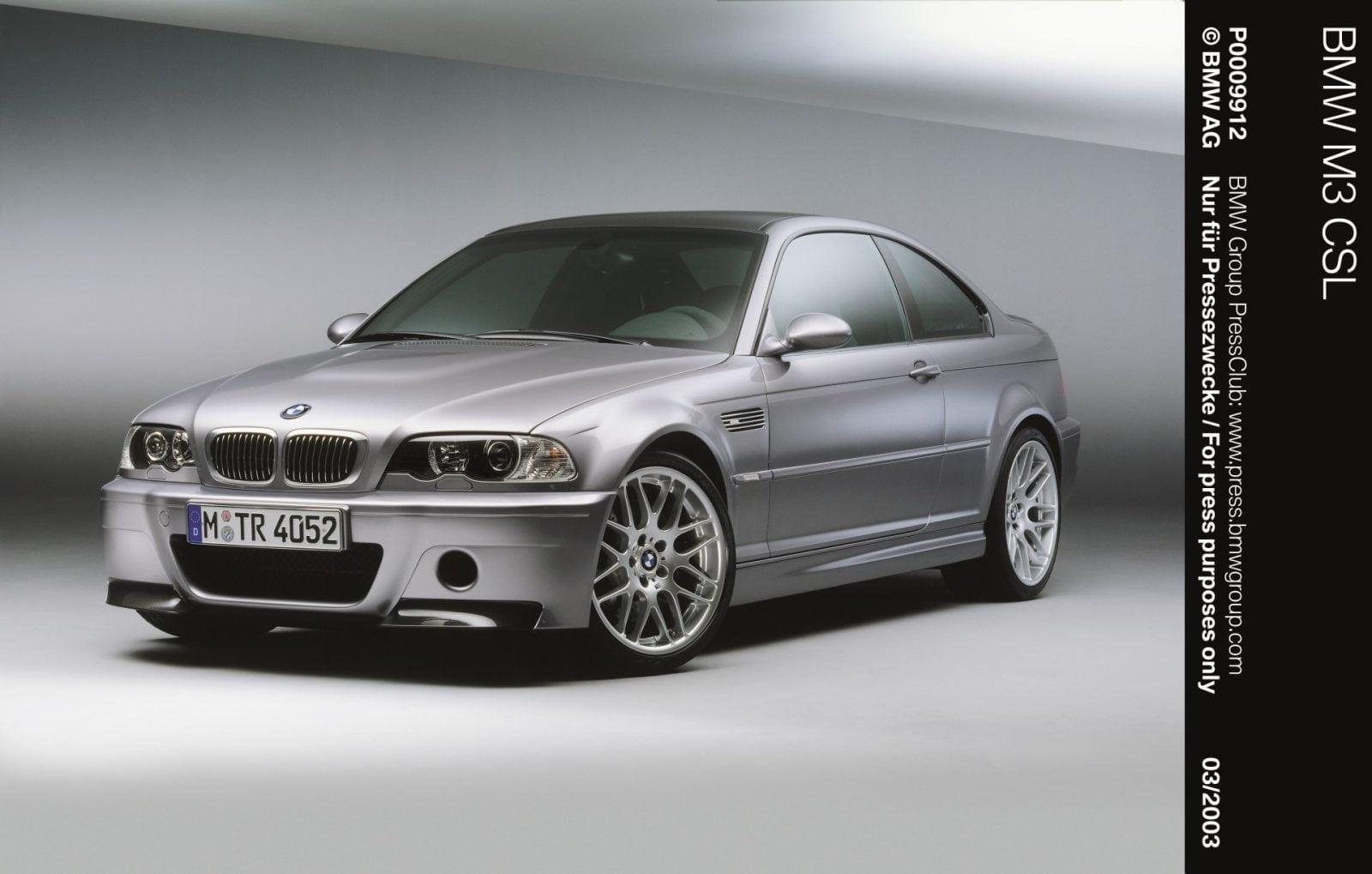 BMW M3 E46 CSL 2003 год. Аббревиатура CSL в названии модели расшифровывается как «Coupe Sport Light» (в переводе – легкое спортивное купе).