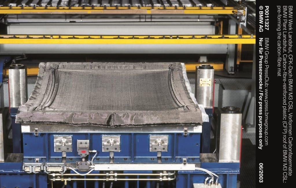 Крыша на M3 CSL изготовлена из усиленного карбонового волокна (GFP) и на 5,9 кг легче стандартной.