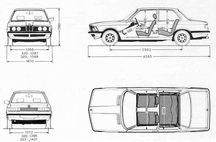 Размеры BMW 3 Серии в кузове E21