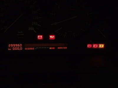Приборная панель с ошибкой 299960
