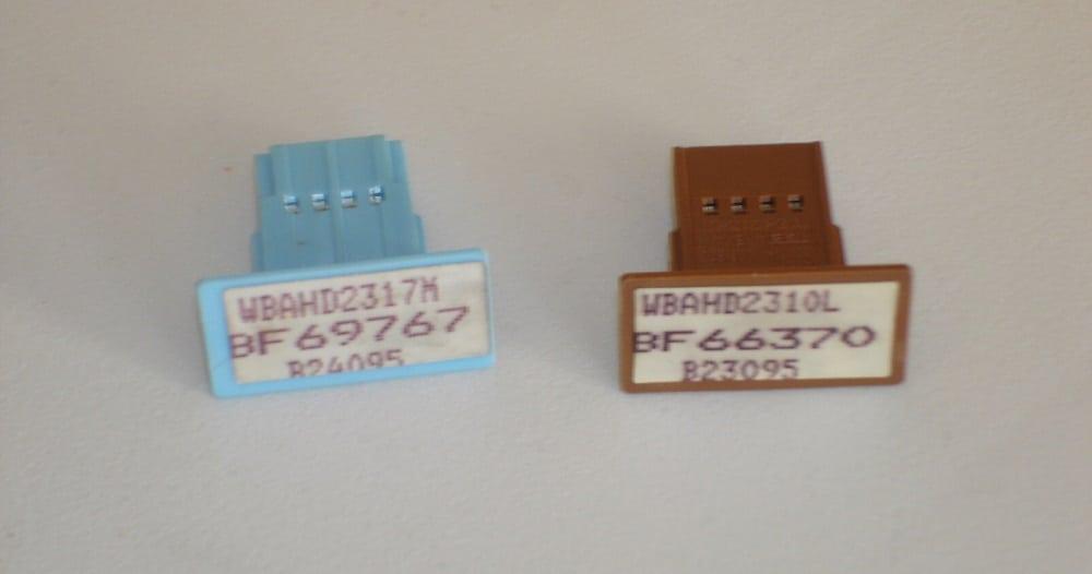 Два варианта чипа приборной панели BMW 5 E34